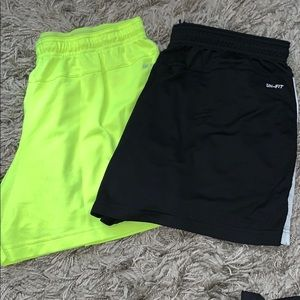 2 pairs of Nike Stretchy Dri Fit shorts!